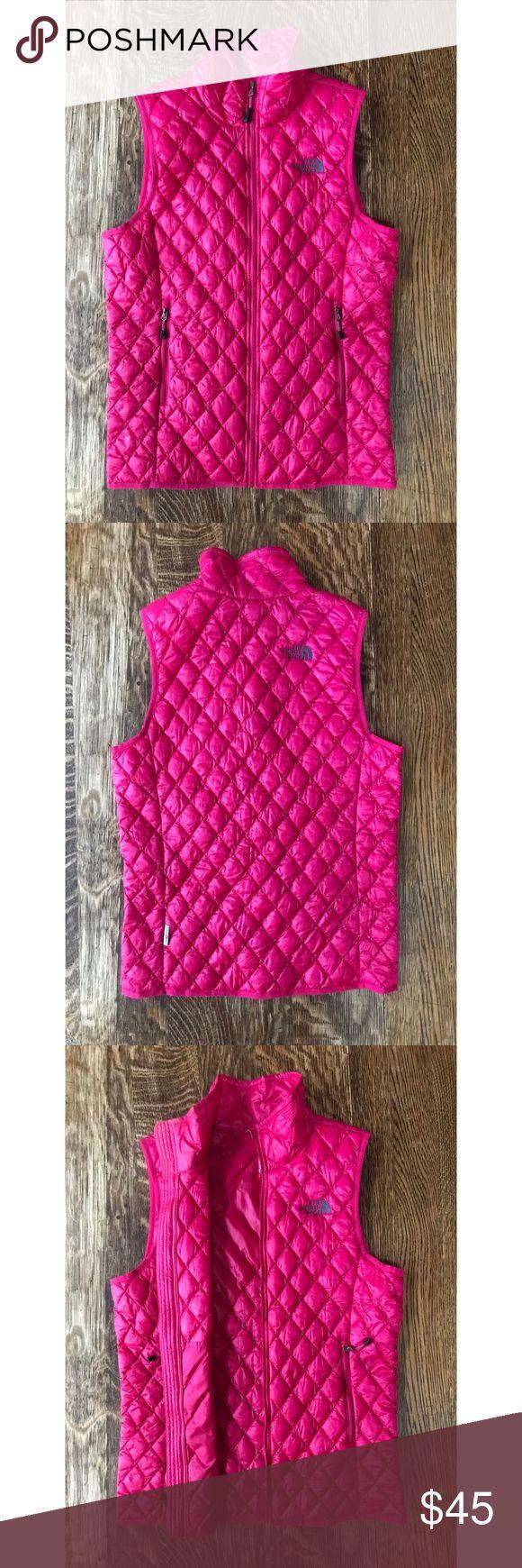 Ladies Petite North Face Vest Hot pink Ladies Nano puff Petite Vest.  Worn several times, no obvious wear! North Face Jackets & Coats Vests