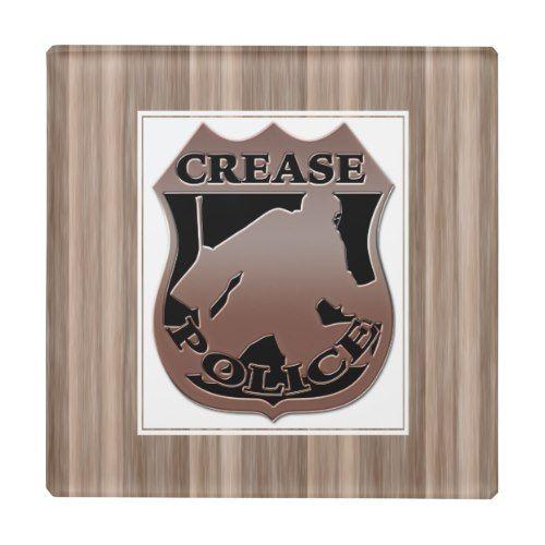 Crease Police Ice Hockey Goalie Glass Coaster