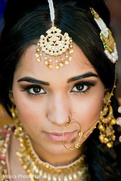 Nude Makeup With Elegant Gold Jewellery Indian Bridal  -2813