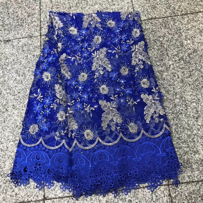 African Lace Fabric  Embroidery French Tulle Lace Fabric Nigerian Lace Fabric for 5 yardslot
