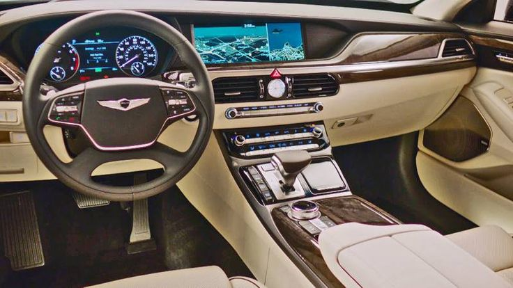 The new 2017 Genesis G90 will be the first Hyundai luxury sedan model to be based on the Athletic Elegance Styling design language developed by the company'