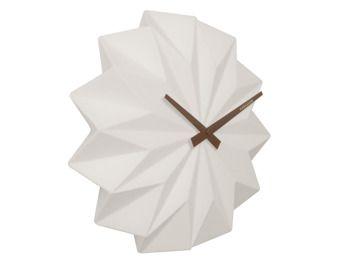 zegar ścienny origami ceramic matt white