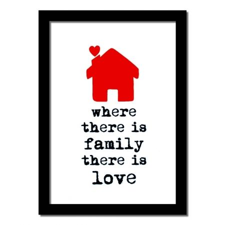 Where there is family there is love handmade art print