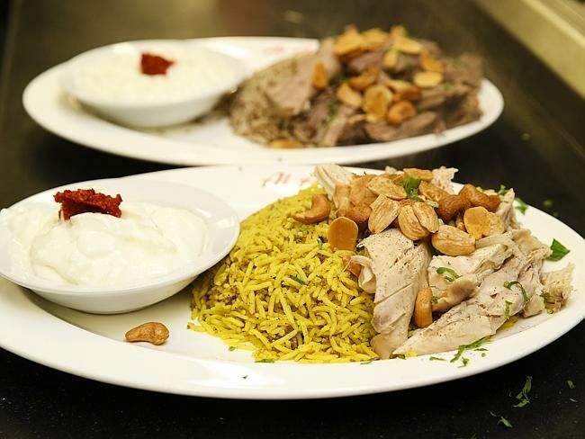 Mansaf chicken and lamb.