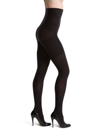 Spanx Tight End Tights High Waisted. Medium slimming control. 70 denier legs. Strong tummy control panel. Soft, matte yarn gives you cracking looking legs! #shapewear #spanx #tights
