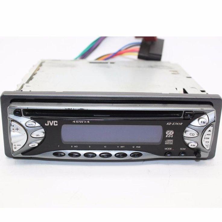JVC KD-S741R car CD player head unit full face off head unit 4 x 45w iso #JVC
