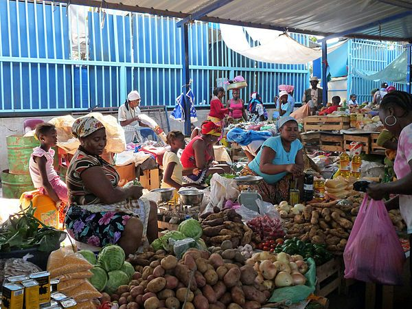 A market in the capital Praia, Cape Verde