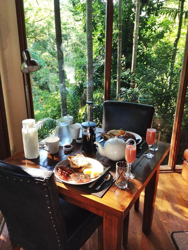 Breakfast at Crystal Creek Rainforest Retreat, Australia