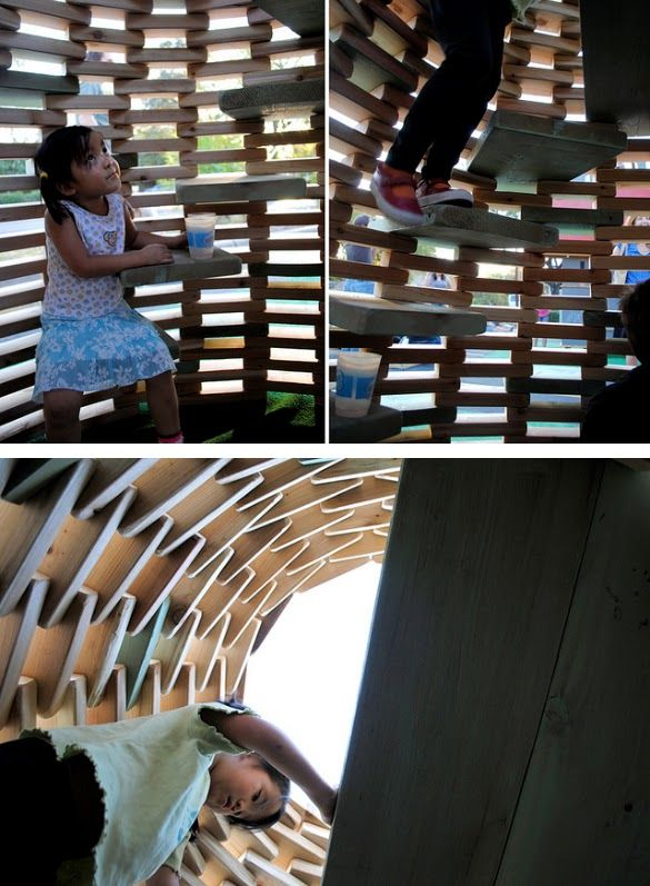 DIY Playground #2: 'PlayHive' Playhouse by thoughtbarn