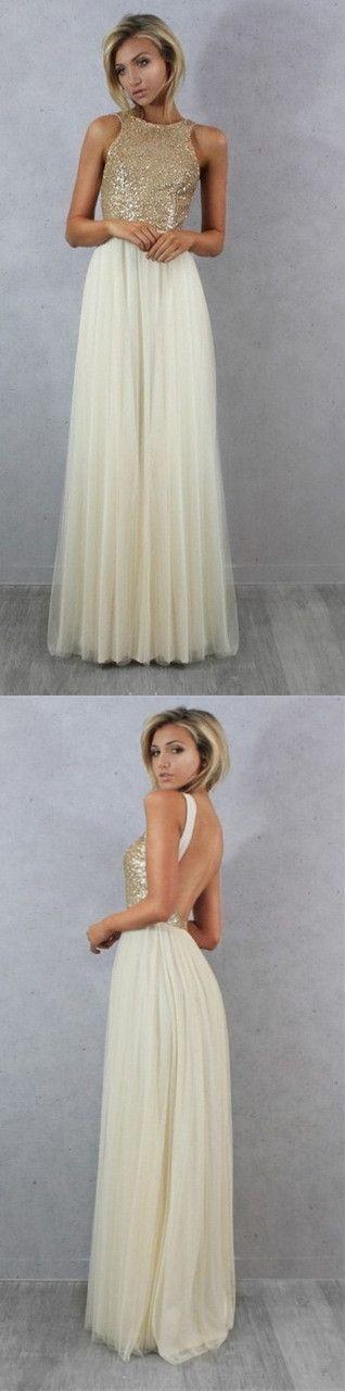 2017 bridesmaid dress, long bridesmaid dress, sequins bridesmaid dress, tulle bridesmaid dress, ivory bridesmaid dress