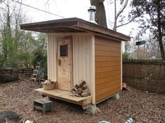 Since we'll have much more outdoor space with a smaller house, I definitely want to build an outdoor sauna
