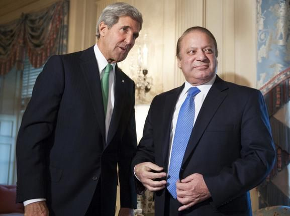 Nawaz Sharif meets US Secretary of State John Kerry