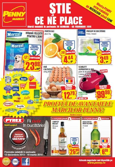 Catalog oferte Penny Market valabil in perioada 29 Ianuarie - 03 Februarie 2014!