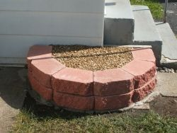 how to make a rain barrel stand. already have the pavers.