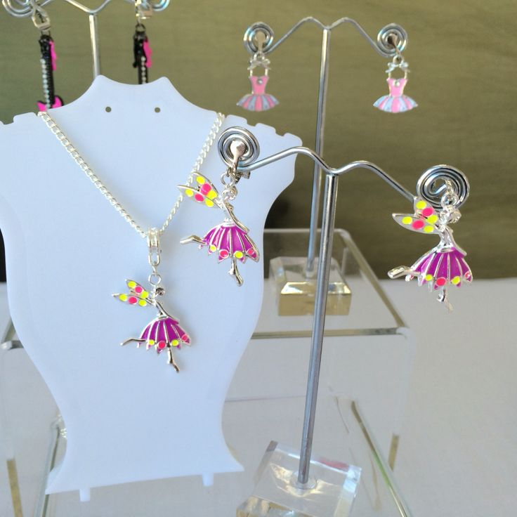 Gorgeous collection of Drop style Fairy Clip On Earring & matching Neckless. These & more at www.clipitaustralia.com.au