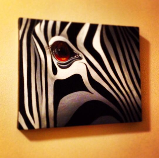 My Zebra painting