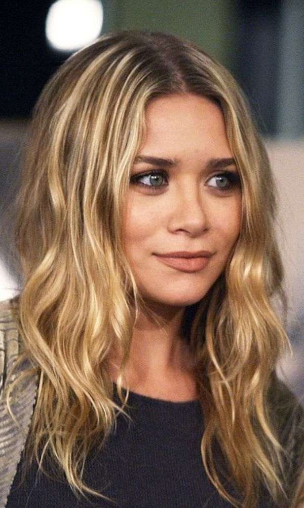 Beauty Close Up Of Ashley Olsen In An Earthy Neutral Look