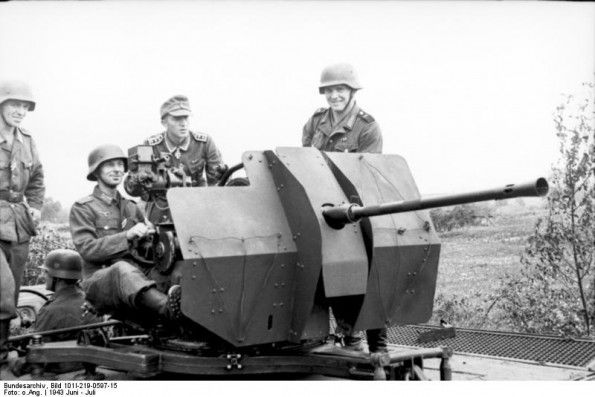 JUL 24 1942 Air attack on the Eastern Front trenches A 2cm Anti Aircraft gun pictured in Russia in1943.