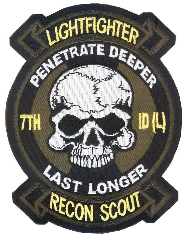 7th Infantry Division (L) Recon Scout PLT Patch - Airborne Ranger - Lightfighter
