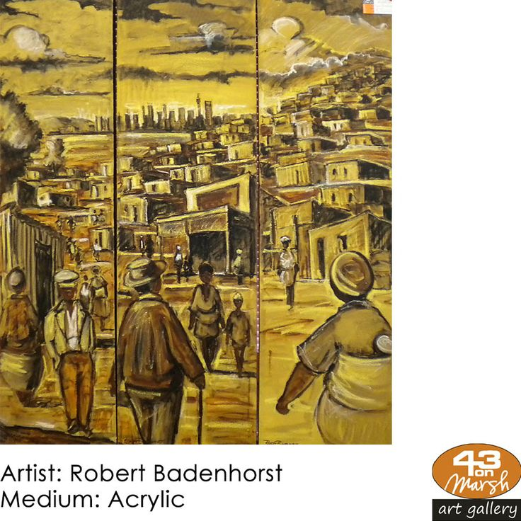 Acrylic on canvas by Robert Badenhorst Contact 43 on Marsh #ArtGallery should you be interested in a work: 083 390 8000 #art #artist, #painting