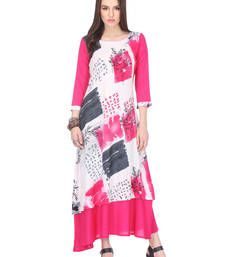 Multi Color  Printed Rayon Material Stitched Kurti With Beautiful Design. Our Stitched Kurtis are ready to flaunt your style quotient And It is designed and stitched using high grade fabrics and yarns under the strict surveillance of our well-versed Professional Employee.Colors may be minor vary from what was mentioned because of different screen resolution.