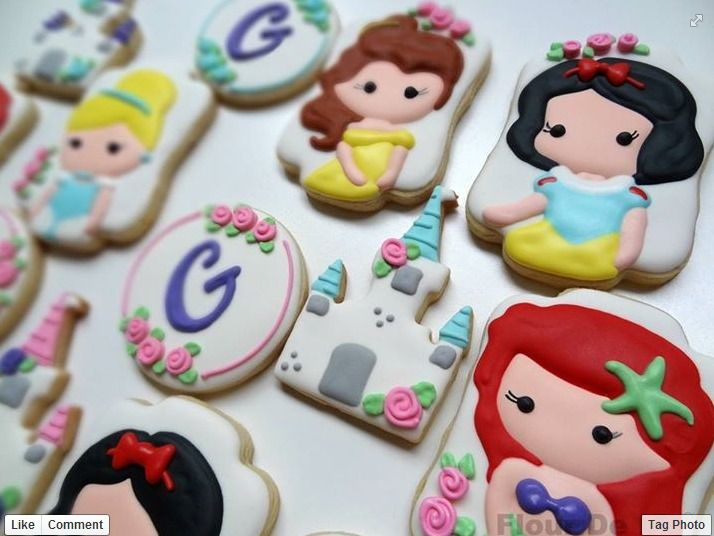 """I like these princess cookies because they are all my favorite princesses as kids."""