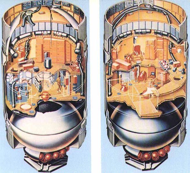 The Interior Of Skylab