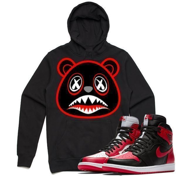 7405ba056e2436 Jordan Retro 1 Homage Bred Baws Sneaker Hoodie by Baws to match is  available on our
