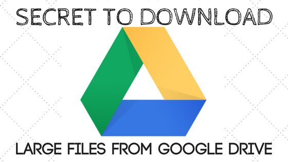 Secret: How to download large files from Google Drive the right way     Google Drive is an awesome tool for saving files online. It offers 15 GB storage for a standard free account. If you want more space then upgrade to their premium plans which are cheaper and are at reasonable prices.  You can easily download files of less size...about 2GB from google drive using the Google Drive's desktop app and direct download but beyond that it will struggle to download files. I tried to download all…