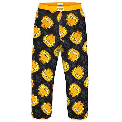 Garfield Official Gift Mens Lounge Pants Pajama Bottoms Large @ niftywarehouse.com