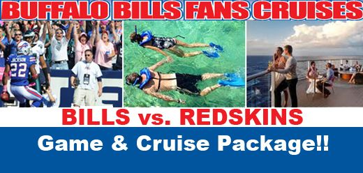 **December 13th - 20th, 2015**  7 Night Florida & Bahamas Cruise aboard the Carnival Pride Followed by The Bills at Redskins Game at FedEx Field. The location of this game allows us a unique opportunity to offer roundtrip chartered bus transportation between Rochester, NY & Baltimore, MD.  - See more at: http://www.justcruisesinc.com/groups.shtml