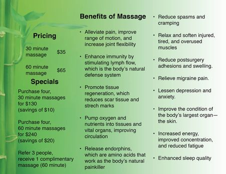 Massage Therapy Brochures | Witty Design Whitney A Gifford