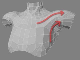 胸部モデリング 04