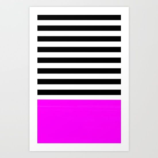 Buy Stripes Art Print by Müge Başak. Worldwide shipping available at Society6.com. Just one of millions of high quality products available.