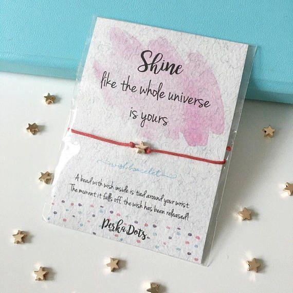 Star Make A Wish Bracelet Wishing Bracelet Friendship Etsy Wish Bracelets Flower Girl Bracelets Best Friend Bracelets