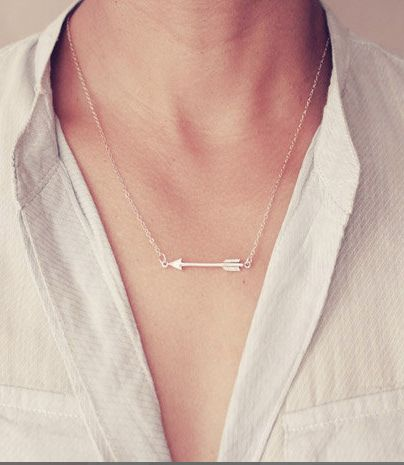 Sterling Silver Arrow Necklace From @daintylayers #jewelry