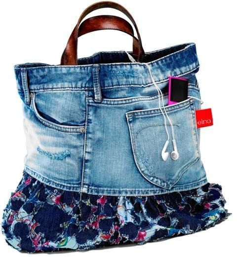 how to make a denim purse from old jeans