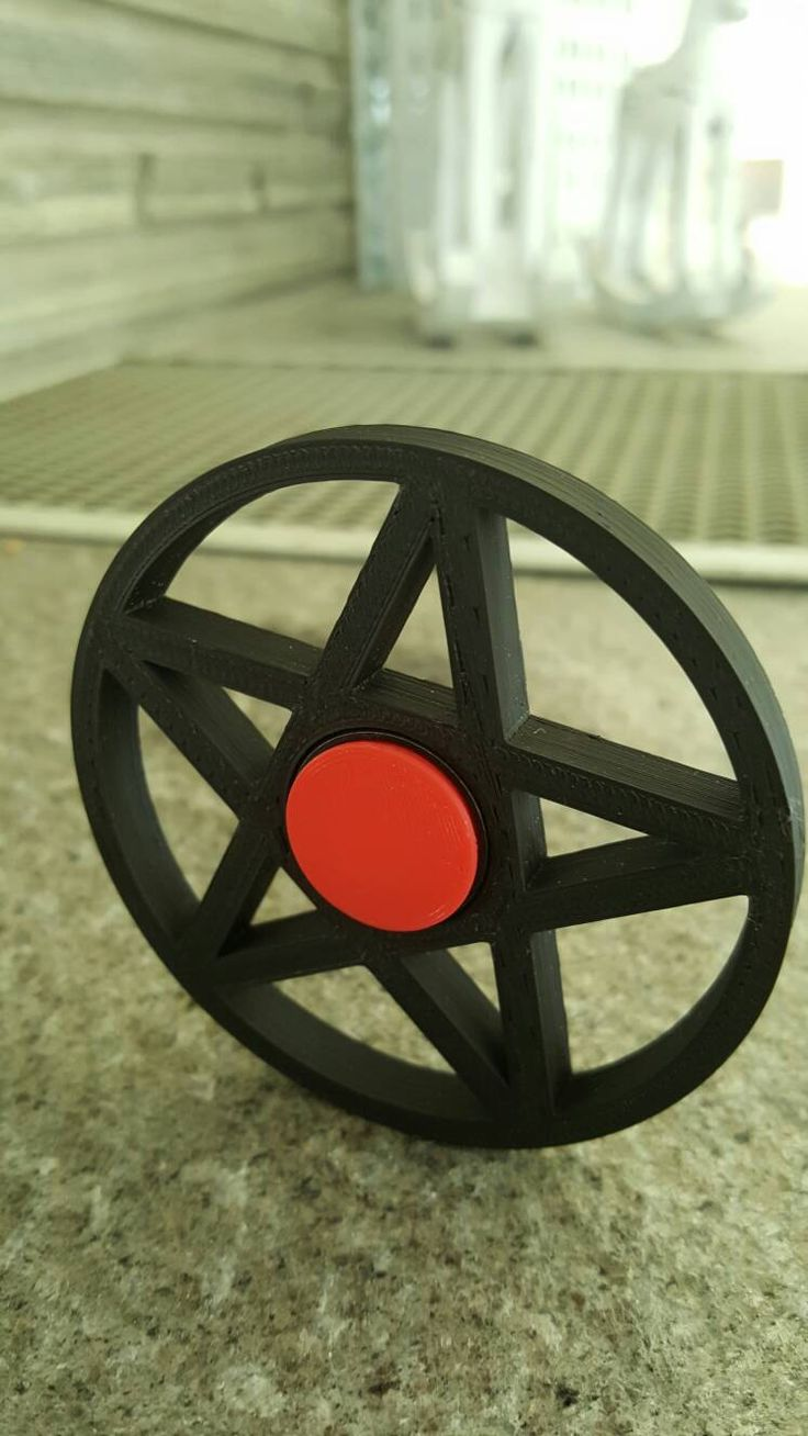 Pentagram spinner stress release toy by Einarsen3D on Etsy