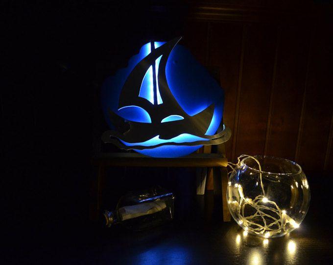 Lámpara quitamiedos para bebés, velero. Inspiración maritima