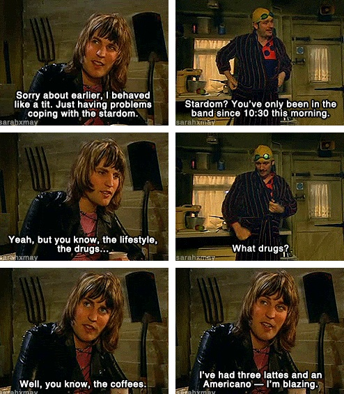The Mighty Boosh - three lattes and an americano