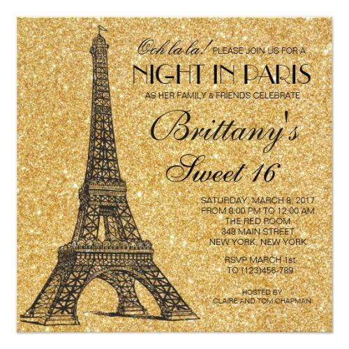 120 besten Paris Birthday Party Invitations Bilder auf Pinterest