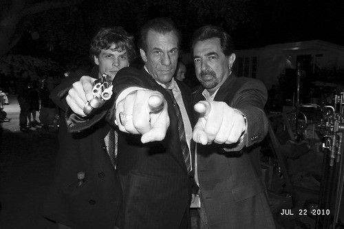"""Matthew Gray Gubler, Robert Davi & Joe Mantegna on the set of """"Criminal Minds""""Criminal Minds, Joe Mantegna, Candid Shots, Criminal Mindfulness, Shots Hollywood, Robert Davis, Matthew Gray Gubler, Boards, Davis Joe"""