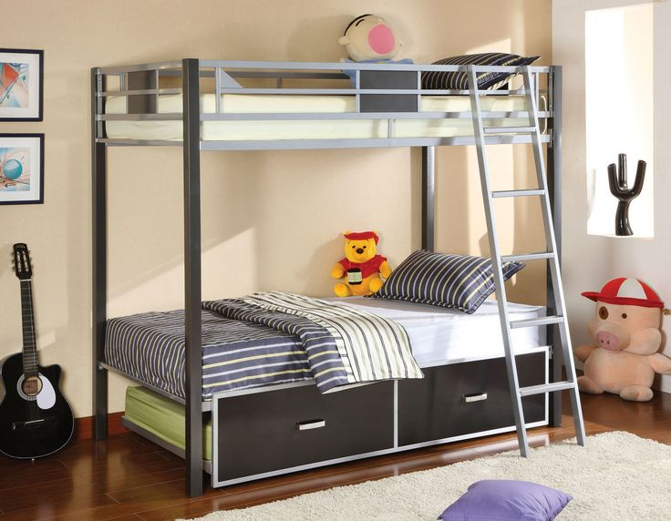 Fresh Furniture America Twin Bunk Bed Cletis Collection Cm Bk1011 For $228 Style - Modern bunk bed furniture Style