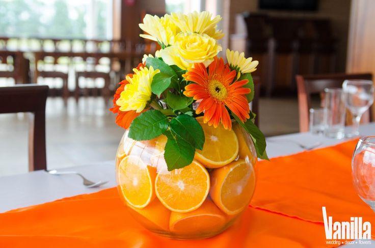 Апельсиновая оранжевая свадьба