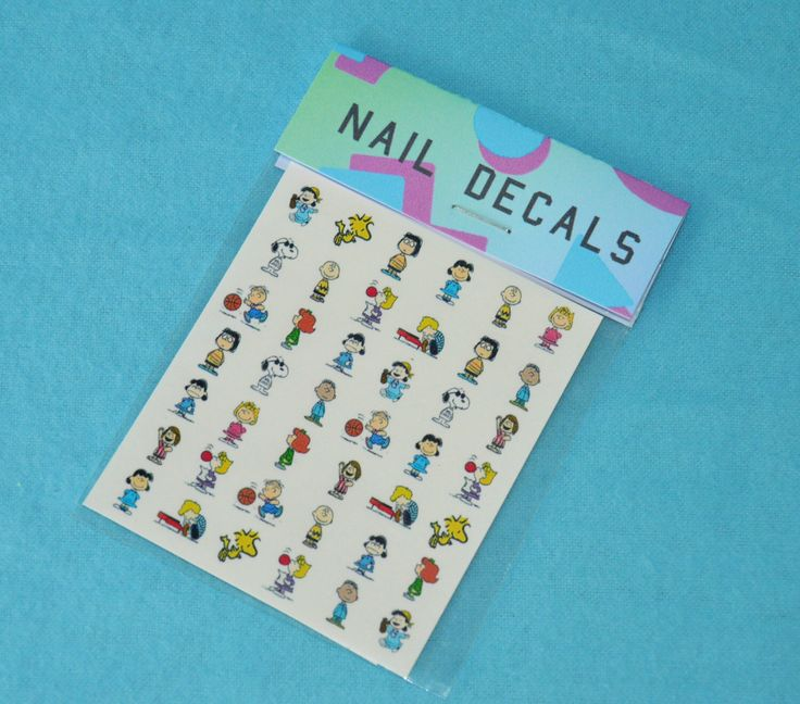 90's Peanuts cartoon nail decals by UnderachieversA on Etsy https://www.etsy.com/listing/241239138/90s-peanuts-cartoon-nail-decals
