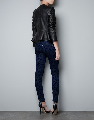 LEATHER JACKET WITH FRILL AT THE WAIST - Blazers - Woman - New collection - ZARA United States