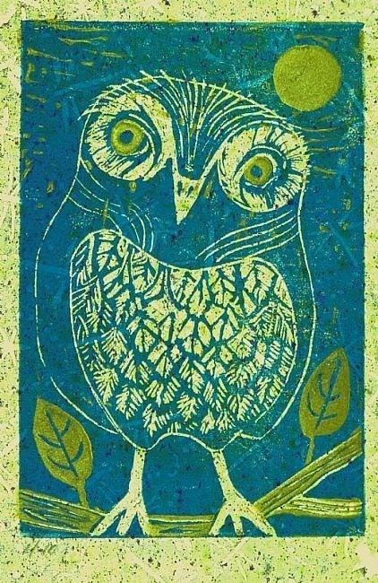 green owl (artist unknown)