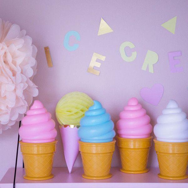 A little lovely company, Ice cream lampe - lyserød