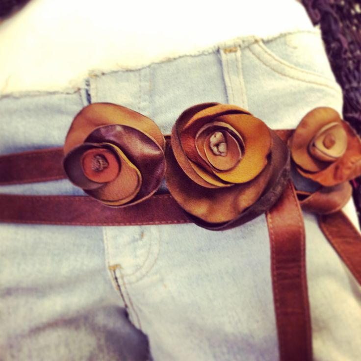 JDK flower belt.   Made in Italy