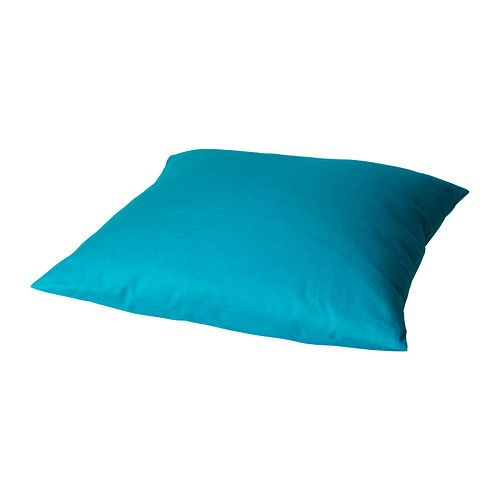 $3.99 - in dark purple, bright orange, red & turquoise.  Nice color pops for not much cash! GRANAT Cushion - turquoise - IKEA